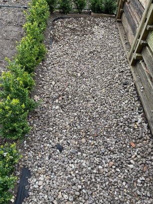 Finished the path near the compost