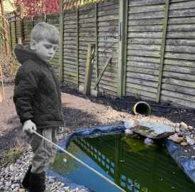 Fishing in the pond